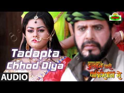 'Tadapta Chhod Diya' Full Audio Song | Dulhan Chahi Pakistan Se | Pradeep Pandey 'Chintu'