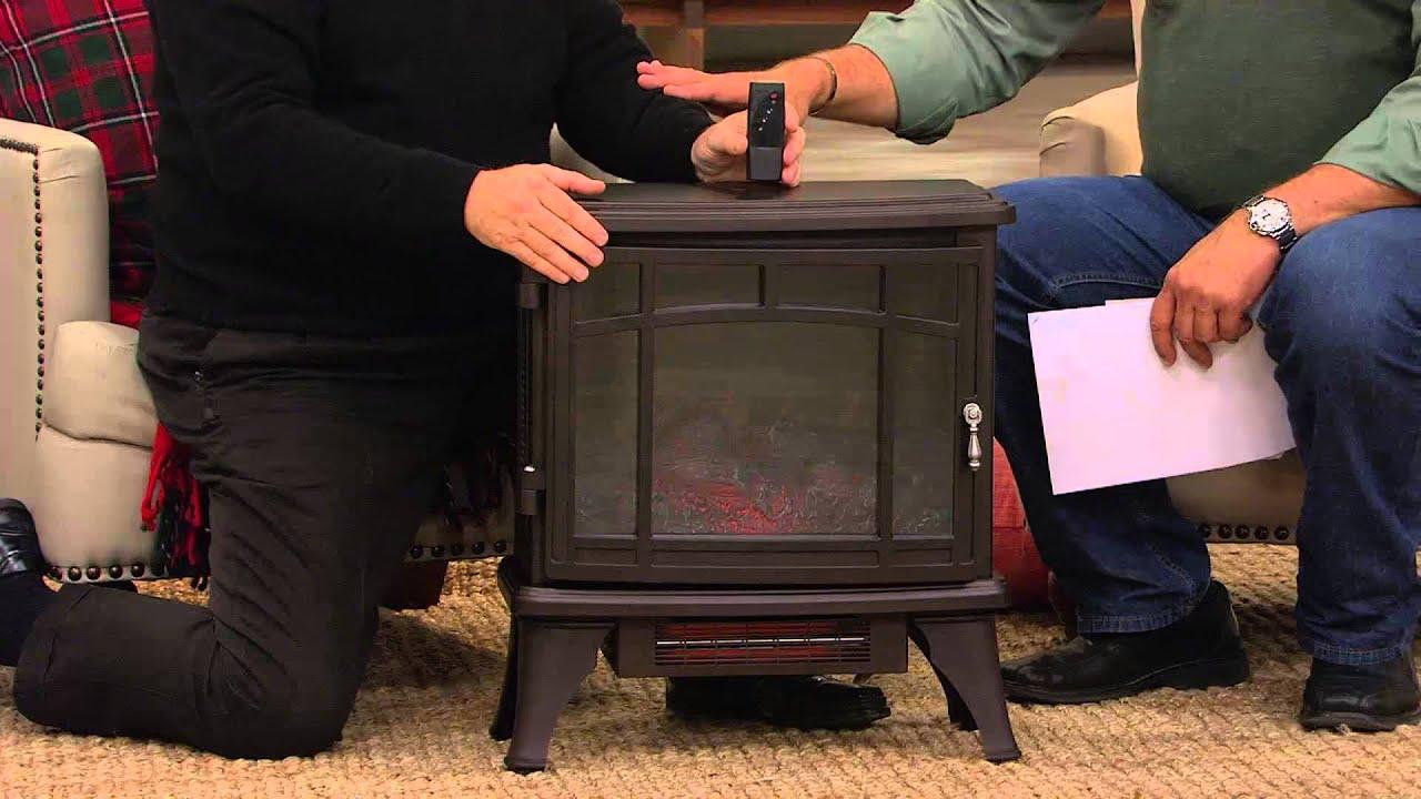 ship 10 17 duraflame infrared quartz stove heater w flame effect