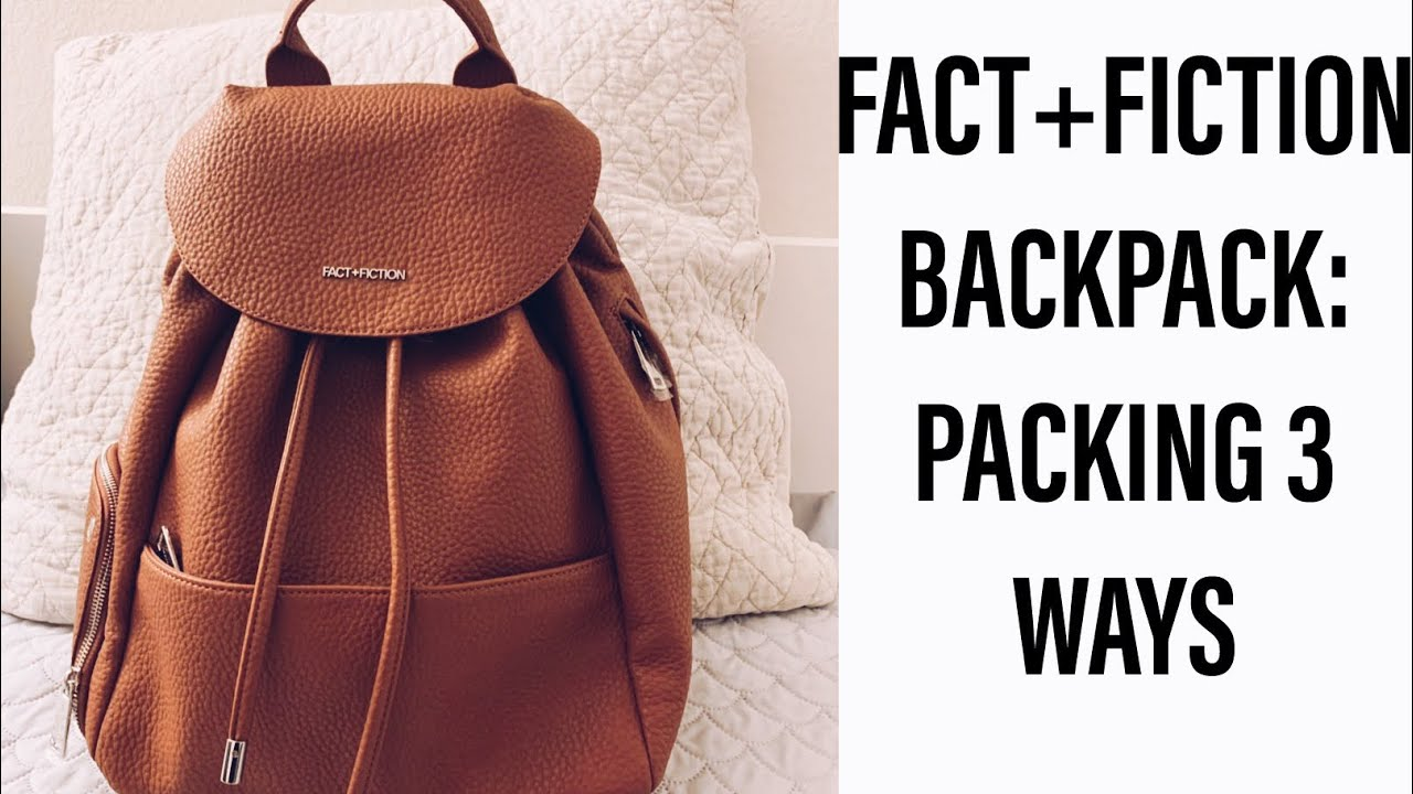c6a5ed5e47ab FACT+FICTION BACKPACK  PACKING 3 WAYS - YouTube