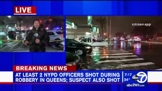 On-duty NYPD officer, suspect shot during Queens store robbery
