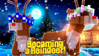 LITTLE CARLY BECOMES A REINDEER! w/Little Kelly (Minecraft).
