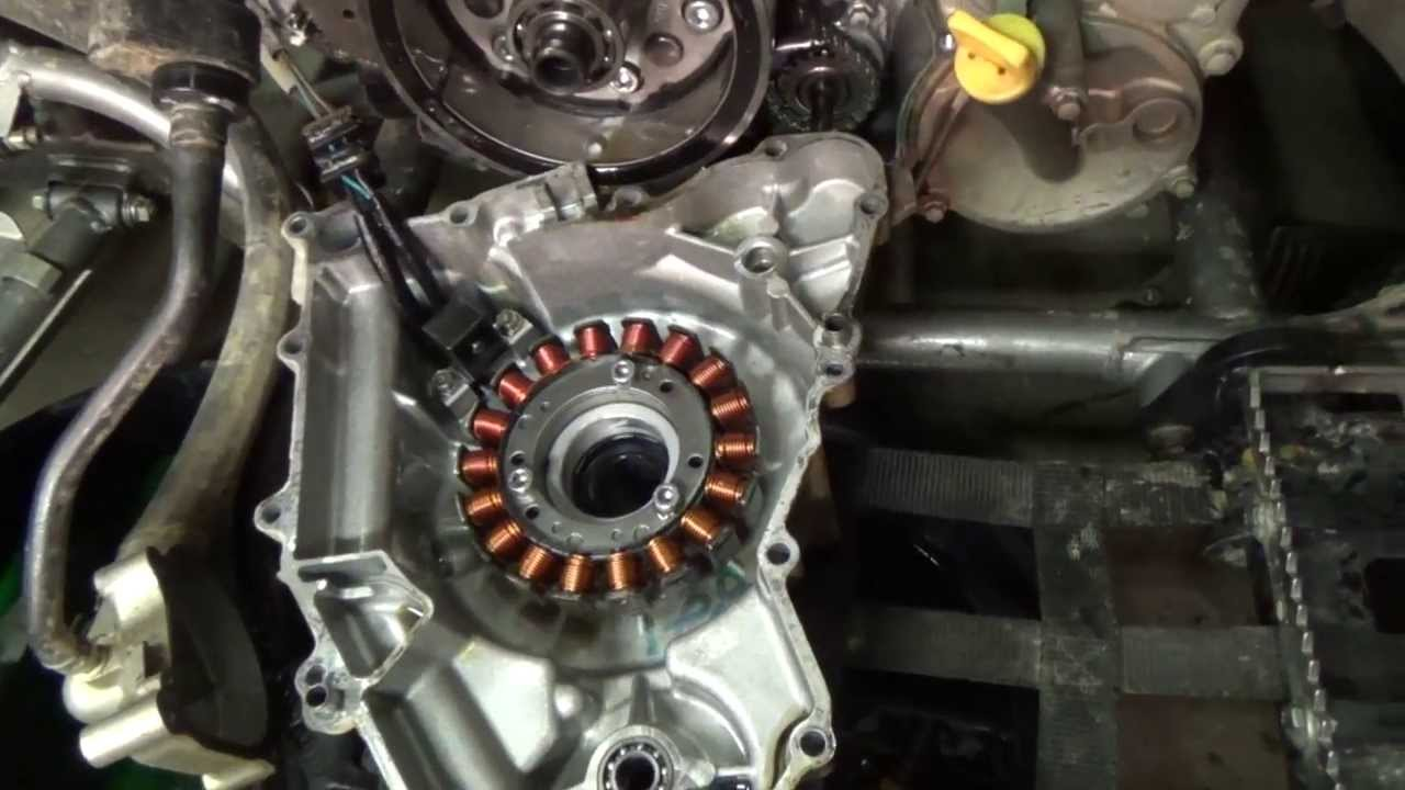 Kawasaki KFX 700  Stator Cover Removal  YouTube