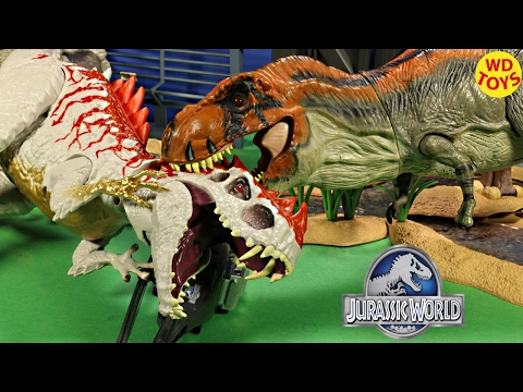 New Jurassic Park Bull T-Rex Electronic Toys R Us Vs Indominus Rex Jurassic World Unboxing Review
