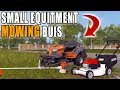 SMALL LOAD OUT   PUSH MOWER + WEED WACKER   MOWING BUSINESS   FARMING SIMULATOR 2017