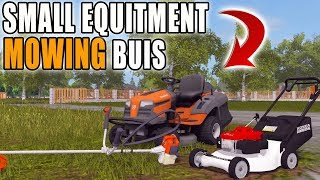 SMALL LOAD OUT | PUSH MOWER + WEED WACKER | MOWING BUSINESS | FARMING SIMULATOR 2017