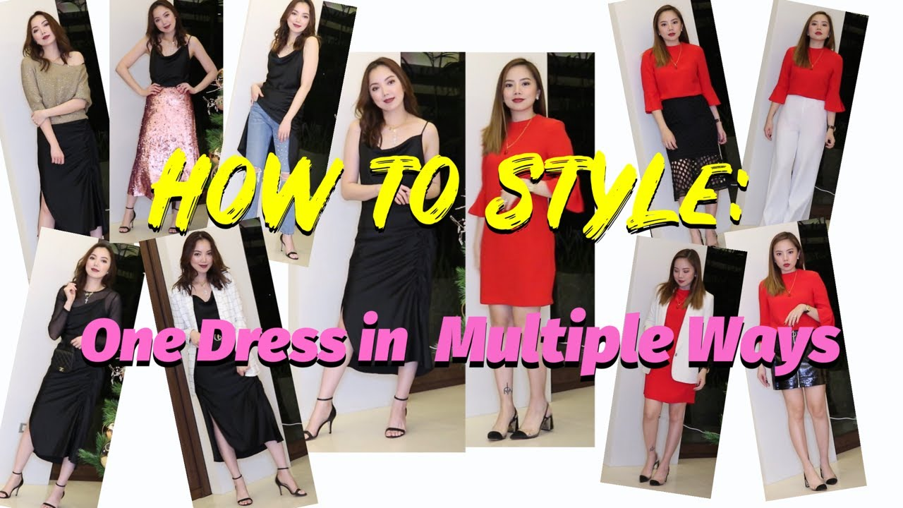 How To Style One Dress In Multiple Ways - Holiday 2018