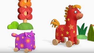 Деревяшки - сборник серий 11 - развивающие мультфильмы для самых маленьких  0-4