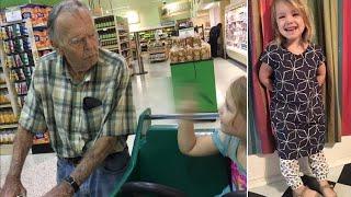 """4-летняя девочка сказала """"Привет, старик"""". Его реакция не была грубой, он дружелюбно ответил"""