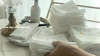 만삭 임산부 브이로그/ 36주차 출산준비(빨래하며 보내…