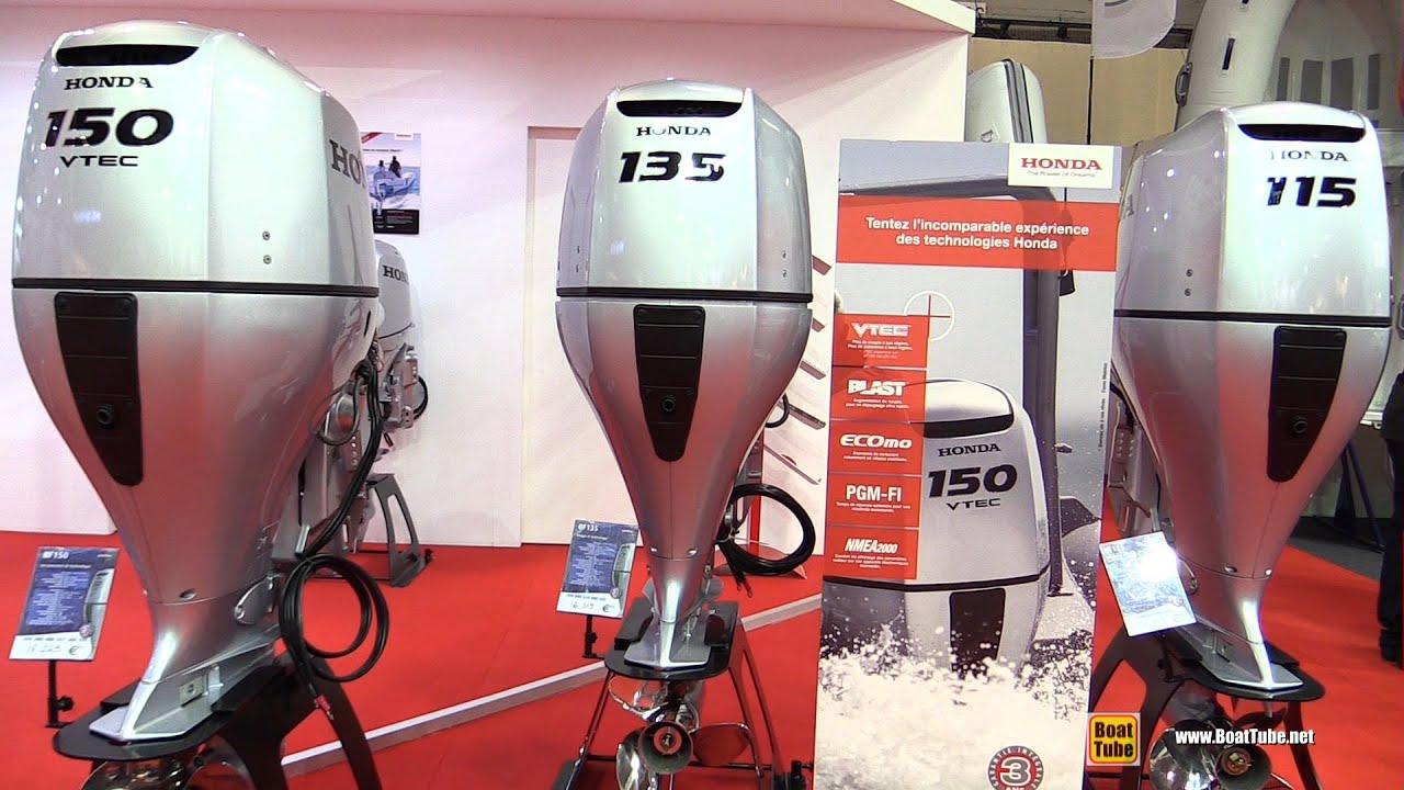 2016 Honda Outboard Engine BF115 BF135 BF150 - Walkaround - 2015 Salon  Nautique de Paris