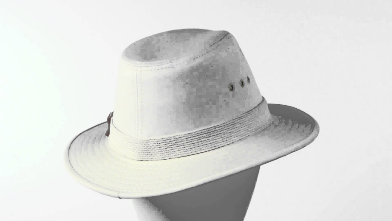 Panama Jack Canvas Safari Hat (For Men and Women) - YouTube 06cdfe400e42