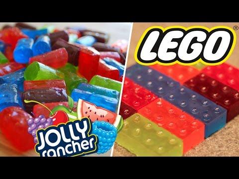 DIY Jolly Rancher Legos! How to make candy legos!
