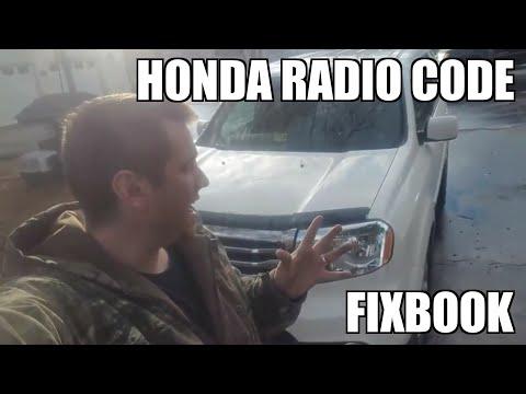 """Radio Code 09-15 Honda Pilot Serial Number """"How to"""""""