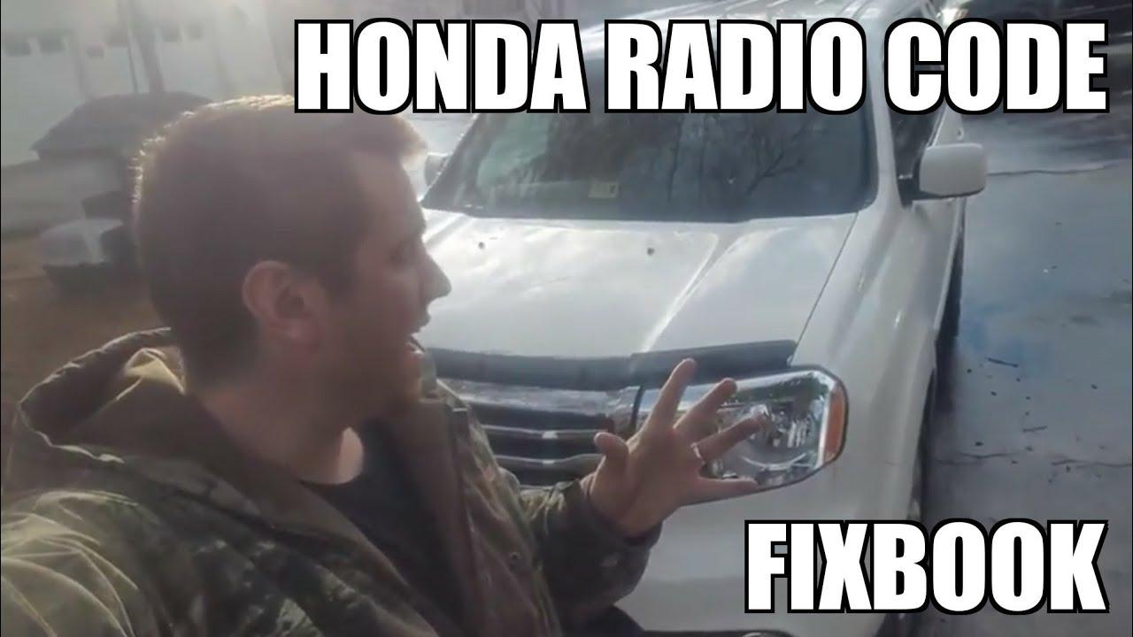 Radio Code 09 15 Honda Pilot Serial Number How To