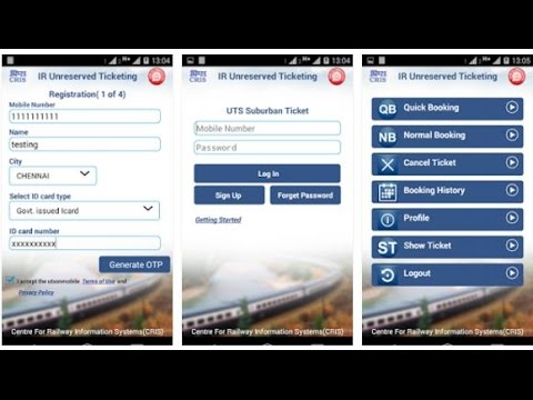 How to Book Local Train Ticket with UTS Mobile App - Part 3 (Ticket Booking Hindi guide)