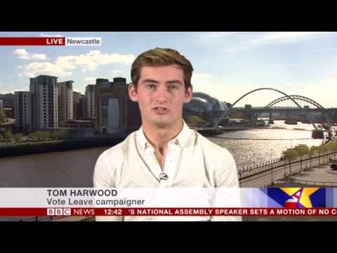 Tom Harwood discussing Boris Johnson's 'Liberal Brexit' speech on BBC News