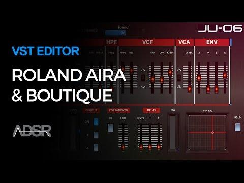 Roland Aira & Boutique VST Editors - Roland JU-06, JP-08 and Roland TR-8