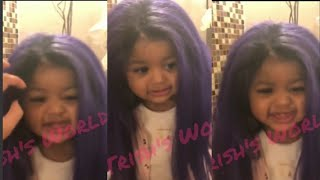 Cardi B & Offset Daughter Kulture With Her Wig On 🥰🥰