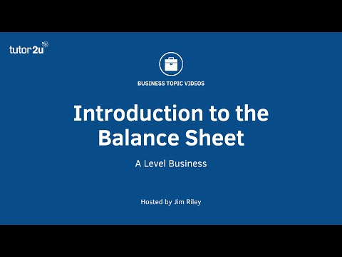 Introduction to the Balance Sheet