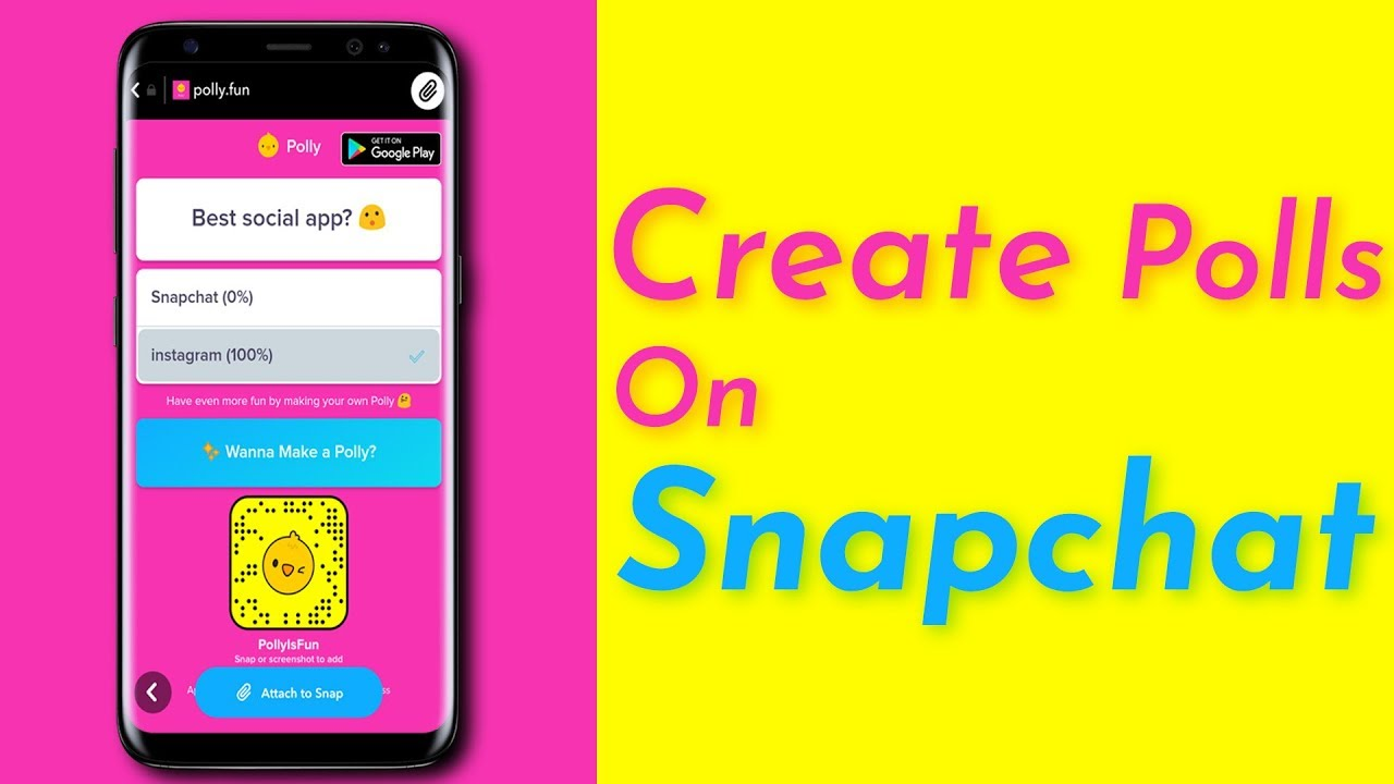 Poll app for snapchat