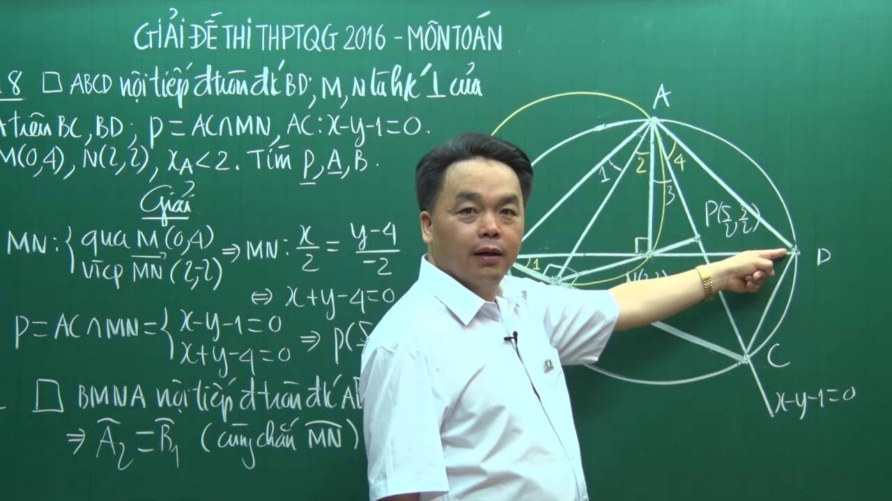 Thi THPTQG – Giải đề thi THPTQG 2016 – Thầy Lê Bá Trần Phương – Môn Toán (P2)
