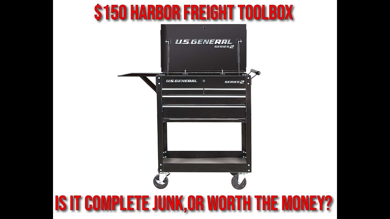 US General 4-Drawer Tool Cart--$150 Harbor Freight Toolbox?!--Assembly and  Review