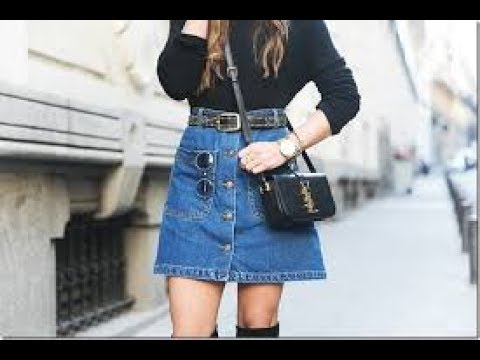 Denim Mini Skirts Outfits 2017 Youtube