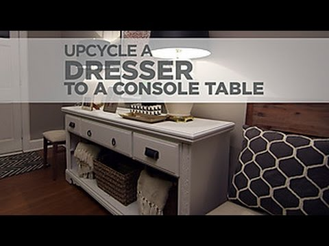 youtube how to make a console table