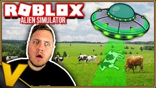 DISPOSE OF A COW AND BLAST A BRIDGE! 👽:: Alien Simulator Roblox anglais