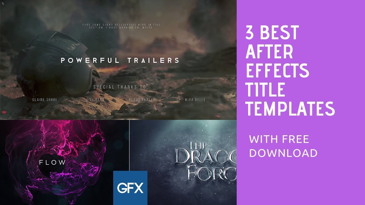 Top 3 Best After Effects Title Templates With Free Download - Top ...