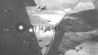 Air attack by B-24 bombers on Budapest. HD Stock Footage