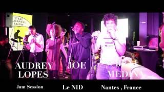 AUDREY LOPES /JOE / BENI MEDINA / (Impro) Jam Session, Le NID, NANTES, France
