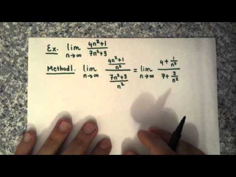 Limits of Sequences Examples Part 1