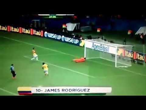 Gol de James Rodriguez (Colombia 2 - Uruguay 0)