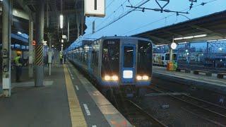 JR四国 松山駅 2000系ワイン列車 到着 (2018年度ワイン列車最終日)
