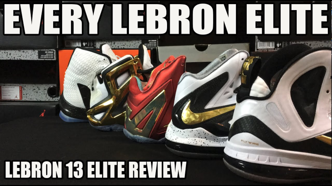 promo code 29aa2 46997 EVERY NIKE LEBRON ELITE MODEL 9-13  ELITE LBJ13 REVIEW   COMPARISON   ON  FEET