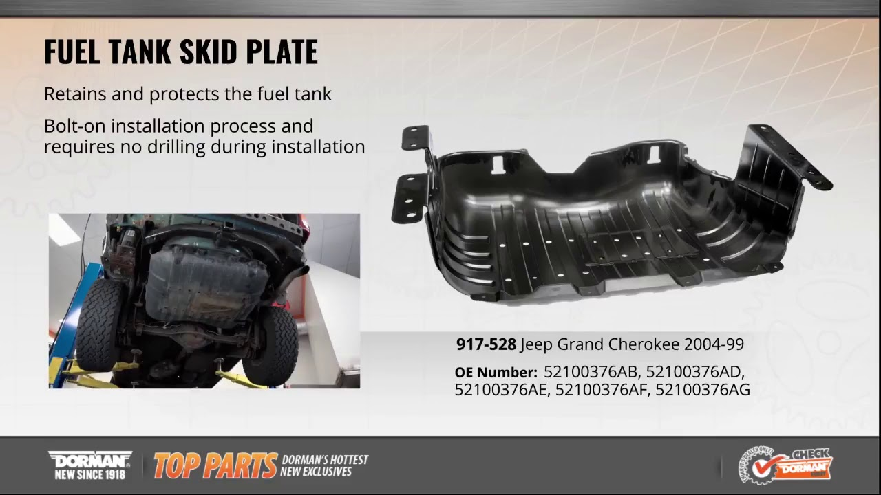 1999 2004 Jeep Grand Cherokee Fuel Tank Skid Plate Dorman Products 917 528