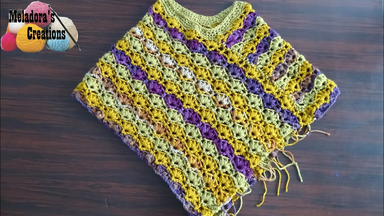 Winsome Crochet Poncho - Crochet Tutorial