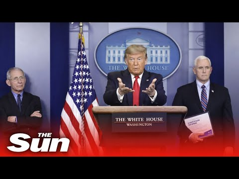 US President Donald Trump Gives His Daily Coronavirus Briefing