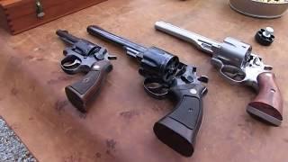 44 Magnum Comparison:  Ruger Redhawk  vs  S&W Model 29