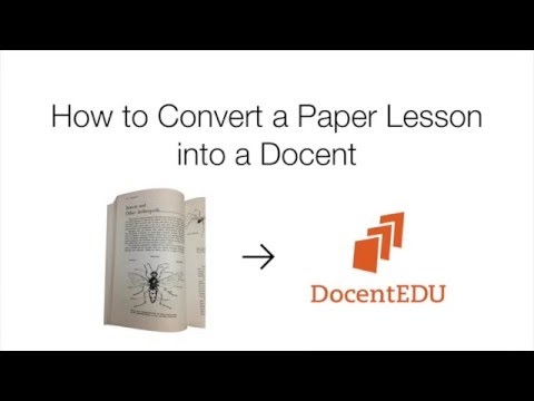 How to Turn a Paper Lesson into an Interactive Docent