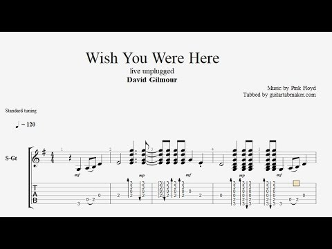 Wish You Were Here TAB - live unplugged acoustic guitar tab - PDF - Guitar Pro