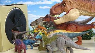 ジュラシックワールド アクションフィギュア 恐竜おもちゃ サウンドトイ 恐竜の名前言えるかな すぽすぽボックス