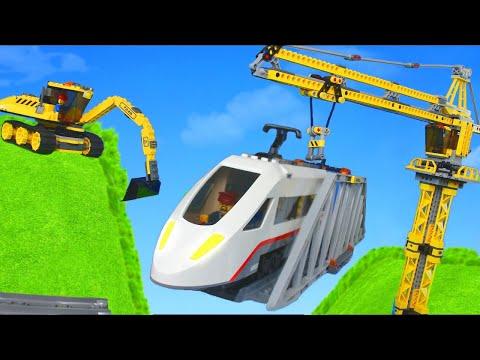 Excavator, Train, Truck, Tractor, Crane & Dump Trucks Lego Construction Toy Vehicles for Kids
