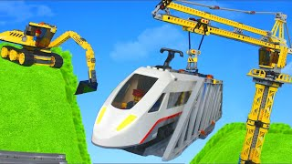 Excavator, Train, Truck, Tractor, Crane & Dump Trucks Lego Construction Toy Vehicles for Kids