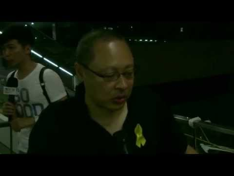 October3 Benny Tai said peaceful demonstration will continue despite violence