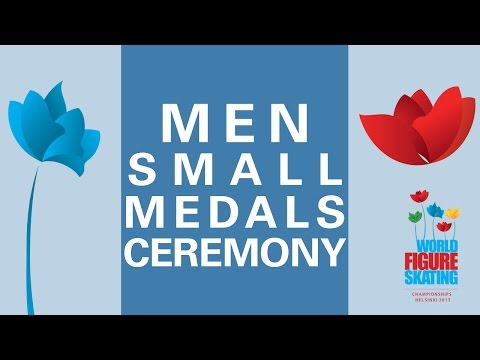 Men Free Skating Small Medals Ceremony - Helsinki 2017