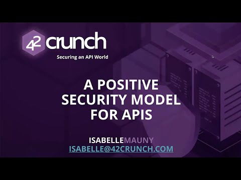 Positive Security for APIs: What it is and why you need it! thumbnail