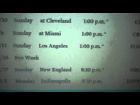 New York Jets 2016 Schedule