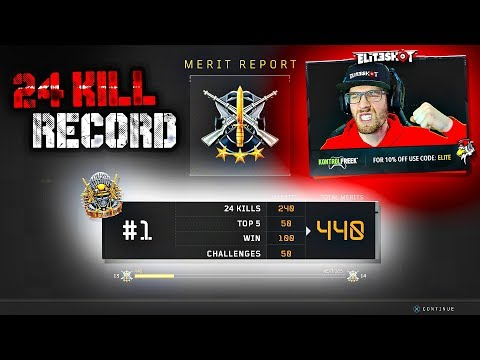 24 KILLS SOLO QUAD RECORD! MY BEST BO4 BLACKOUT GAMEPLAY!